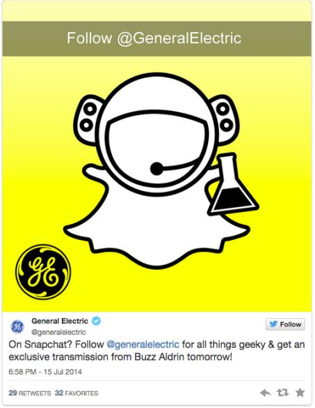 GE Snapchat