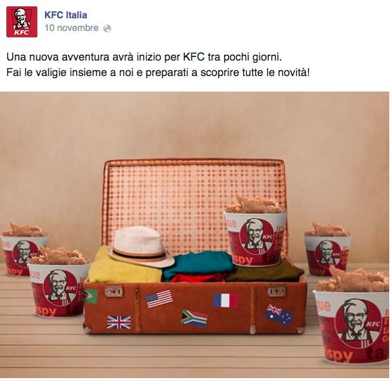 KFC Apre in Italia a Roma